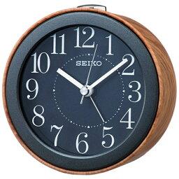 目覚し時計 セイコー SEIKO 目覚まし時計 ナチュラルスタイル 濃茶木目模様 KR504A [アナログ]