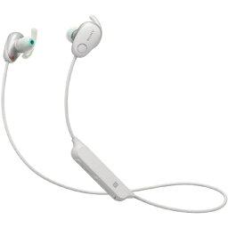 ソニー ソニー SONY ブルートゥースイヤホン カナル型 WI-SP600N WM ホワイト [リモコン・マイク対応 /防滴 /Bluetooth /ノイズキャンセリング対応][WISP600NWM]