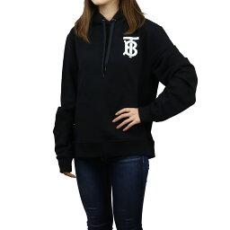 バーバリー バーバリー BURBERRY モノグラム パーカー 長袖 フーディ プルオーバー ロゴプリント 8024352 A1189 BLACK ブラック レディース ladies ladies bos-03 apparel-01 新品