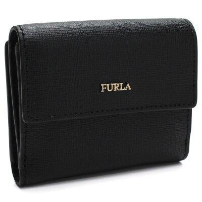 フルラ FURLA BABYLON ミニ財布 2つ折り財布 PZ10 963513 B30 O60 ONYX ブラック 【レディース】