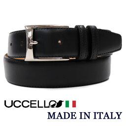 6bf6c11384fa ウッチェロ UCCELLO ウッチェロ イタリア製 ブッテロレザーベルト メンズ ≪本革 ビジネス 紳士ベルト 35mm 黒