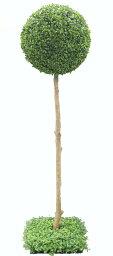 ボックスウッドピアリー ボックスウッドトピアリー 高さ120cm (造花 人工観葉植物 樹木 円形 ガーデニング 球体 丸い オブジェ インテリア フェイクグリーン)