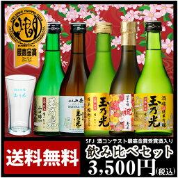 日本酒飲み比べセット 日本酒 最高金賞受賞酒入り豪華版飲み比べセット TNY-5 送料無料