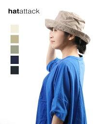 ハットアタック 【ハットアタック HAT attack】 UVカット 紫外線カット コットンハット 帽子 WASHED COTTON CRUSHER HAT・1ha03-0662101【メール便可能商品】[M便 5/5]【レディース】【1F】