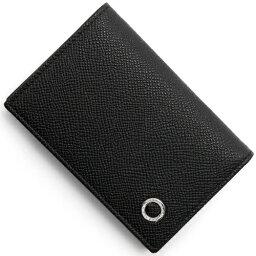ブルガリ 名刺入れ(メンズ) 【X'masSALE】ブルガリ カードケース メンズ ブルガリブルガリ マン レザー ブラック 30400 BVLGARI