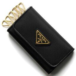 プラダ キーケース(メンズ) プラダ キーケース メンズ レディース テスート トライアングル 三角ロゴプレート ブラック 1PG222 2B15 F0002 PRADA