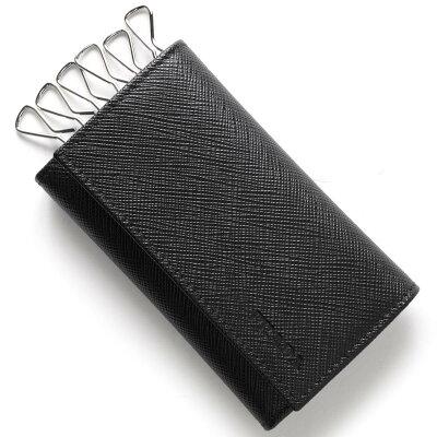 プラダ キーケース メンズ SAFFIANO ブラック 2PG222 053 F0002 PRADA バーゲン ギフト プレゼント