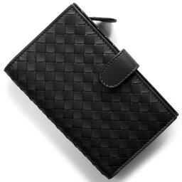 ボッテガヴェネタ 二つ折り財布(メンズ) ボッテガヴェネタ (ボッテガ・ヴェネタ) 二つ折り財布 財布 メンズ レディース イントレチャート ブラック 121060 V001N 1000 BOTTEGA VENETA