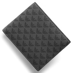 アルマーニ エンポリオアルマーニ 二つ折り財布 財布 メンズ PORTAMONETE ALL OVER イーグルマーク ブラック&グレー Y4R065 YG91J 81072 EMPORIO ARMANI