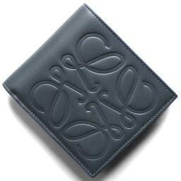 ロエベ 二つ折り財布(メンズ) ロエベ 二つ折り財布【札入れ】 財布 メンズ ブランド スチールブルー 106 A302 54 6490 2020年春夏新作 LOEWE