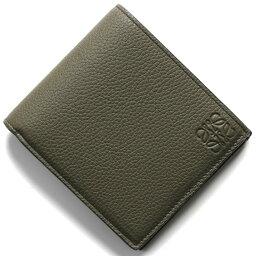 ロエベ 二つ折り財布(メンズ) ロエベ 二つ折り財布【札入れ】 財布 メンズ バイフォルド ベルデカーキグリーン&ピーカンブラウン 124 U01 12 4557 LOEWE