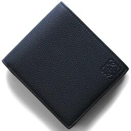 ロエベ 二つ折り財布(メンズ) 【X'masSALE】ロエベ 二つ折り財布【札入れ】 財布 メンズ バイフォルド ミッドナイトブルー&ブラック&ブラウン 124 U01 12 5605 LOEWE