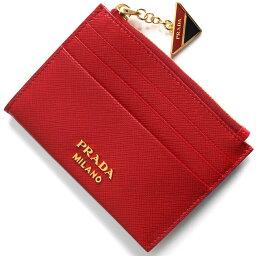 プラダ プラダ コインケース(小銭入れ)/クレジットカードケース 財布 レディース サフィアーノ トライアングル フォーコレッド 1MC026 2CGD F068Z PRADA