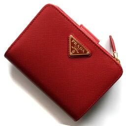 プラダ 二つ折り財布 レディース プラダ 二つ折り財布 財布 レディース サフィアーノ トライアングル 三角ロゴプレート フォーコレッド 1ML018 QHH F068Z PRADA
