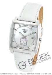 タグホイヤー モナコ 腕時計(メンズ) タグホイヤー モナコ ダイヤ アリゲーターレザー 腕時計 メンズ TAG Heuer WAW131B.FC6247