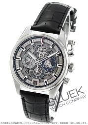 ゼニス クロノマスター 腕時計(メンズ) ゼニス エル プリメロ クロノマスター フルオープン クロノグラフ アリゲーターレザー 腕時計 メンズ Zenith 03.2081.400/78.C813