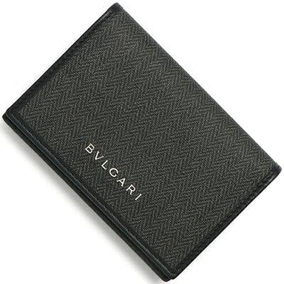 ブルガリ カードケース メンズ ウィークエンド 【WEEKEND】 グレー&ブラック 32588 BVLGARI