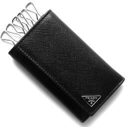 プラダ キーケース プラダ キーケース メンズ サフィアーノ トライアングル SAFFIANO TRIANG 三角ロゴプレート ブラック 2PG222 QHH F0002 PRADA