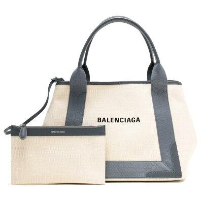 バレンシアガ トートバッグ バッグ レディース ネイビーカバス S ナチュラル&グレー 339933 AQ38N 1381 BALENCIAGA