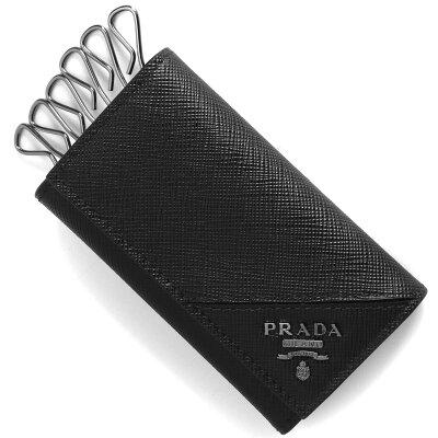 プラダ キーケース メンズ サフィアーノ メタル 【SAFFIANO METAL】 ブラック 2PG222 QME F0002 PRADA