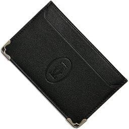 カルティエ 定期入れ カルティエ Cartier カードケース【名刺入れ】 マスト 【MUST】 ブラック L3001425 メンズ レディース