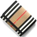 バーバリー 三つ折り財布 財布 レディース ランカスター アイコンストライプ アーカイブベージュ LS LANCASTER IFR 116398 A7026 8026003 BURBERRY