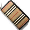 バーバリー 長財布 財布 メンズ レディース エルモア ヴィンテージチェック アーカイブベージュ&ブラック LS ELMORE IFR 116398 A7026 8030448 BURBERRY