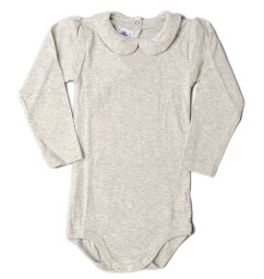 プチバトー ベビー服 プチバトー アンダーウェア 肌着/ポロシャツボディ PETIT BATEAU ベビー 女の子 グレー 出産祝い