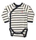 プチバトー ベビー服 プチバトー アンダーウェア 肌着/長袖ボディ PETIT BATEAU ベビー 男女兼用 ホワイト/ネイビー 出産祝い