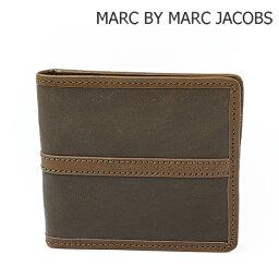 マークジェイコブス 二つ折り財布(メンズ) マークバイマークジェイコブス 財布 MARC BY MARC JACOBS メンズライン 折財布/札入れ エレファントグレー M4111443