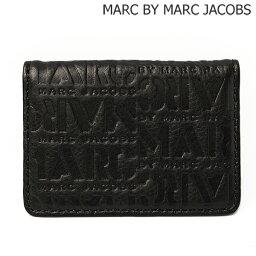 マークバイマークジェイコブス マークバイマークジェイコブス カードケース/パスケース MARC BY MARC JACOBS メンズライン ロゴマニア/Logomania レザー/ブラック M4131422