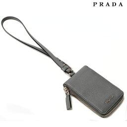 プラダ ストラップ(レディース) プラダ キーケース PRADA 6連ハンドストラップ付 2M1382 SAFFIANO/型押しレザー MERCURIO/ライトグレー系