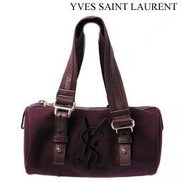ボストンバッグ Yves Saint Laurent イヴ・サンローラン ミニボストンバッグ カハラ ダークパープル 144336【アウトレット】【送料無料】【smtb-TK】