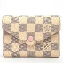 【返品OK】【新品同様】ルイ ヴィトン ポルトフォイユ・ヴィクトリーヌ ダミエアズール N64022 レディース【二つ折り財布】