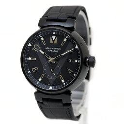 ルイ ルイヴィトン 腕時計(メンズ) ルイ・ヴィトン タンブール オールブラック オートマティック 2017-18AW メンズ 腕時計 QAAA19 【未使用 展示品】