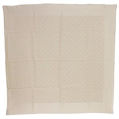 ルイ・ヴィトン カレ・モナコ シルク 100% スカーフ ベージュ M71146【新品・未使用品】