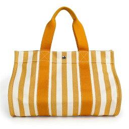 オレンジ エルメス カンヌ MM トートバッグ 102005M オレンジ×ホワイト【未使用 展示品】
