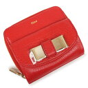 クロエ 財布(レディース) クロエ リリィ ラウンドファスナー 二つ折り財布 赤 レッド 3P0503 箱付【新品・未使用品】