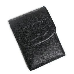 シャネル シガレットケース シャネル キャビアスキン シガレットケース 黒 A13511【未使用 展示品】