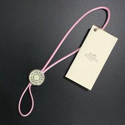 エルメス ストラップ(レディース) エルメス セリエ 携帯ストラップ ピンク【新品・未使用品】