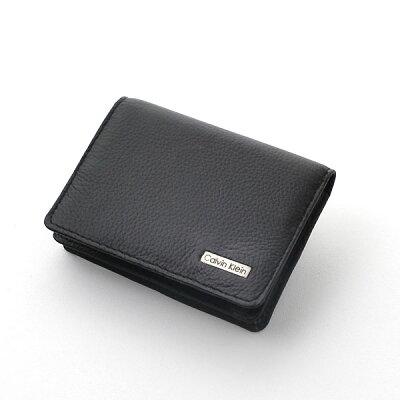 カルバンクライン Calvin Klein 名刺入れ カードケース ブラック ロゴプレート 79218【Luxury Brand Selection】【楽ギフ_包装】
