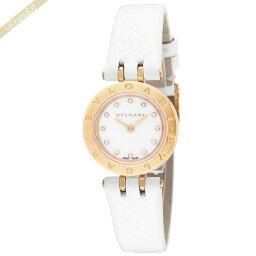 ビーゼロワン 腕時計(メンズ) ブルガリ レディース腕時計 B-zero1 ビーゼロワン 18K 23mm ホワイト×ピンクゴールド BZ23WSGCL/12