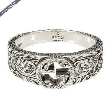 グッチ リング メンズ 指輪 インターロッキングG 彫銀風 シルバーリング シルバー 455249 J8400 0701