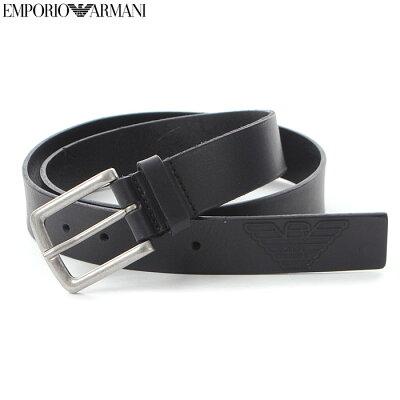 エンポリオアルマーニ EMPORIO ARMANI レザーベルト メンズ Y4S217 YCM4G ブラック