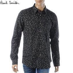 ポールスミス ポールスミス PAUL SMITH カジュアルシャツ 長袖 メンズ M2R 614P A20686 ブラック 2019秋冬セール