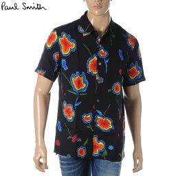 ポールスミス ポールスミス PAUL SMITH カジュアルシャツ 半袖 メンズ M2R 114R A20879 ブラック 2020春夏セール