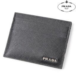 プラダ 定期入れ PRADA【プラダ】レザーカードケース/パスケース/定期入れ/2M1223 2E3D/ブラック/メンズ