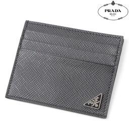 プラダ 定期入れ PRADA【プラダ】レザーカードケース/パスケース/定期入れ/2M1223 2E3E/ブラック/メンズ
