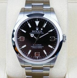 エクスプローラー 腕時計(メンズ) 【新同品】Rolex/ロレックス Explorer/エクスプローラー I Ref.214270 新型ダイヤル ブラック 369 G番 自動巻き 腕時計#34060