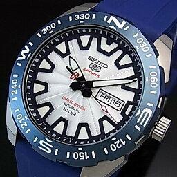 ファイブスポーツ SEIKO/SEIKO5 Sports【セイコー5スポーツ/ファイブスポーツ】富士山世界遺産登録記念限定モデル 自動巻 メンズ腕時計 ネイビーラバーベルト シルバー文字盤 SRP783K1 海外モデル